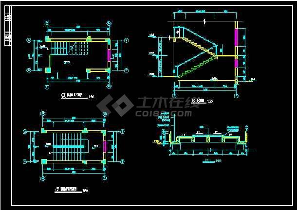 某山庄会馆建筑施工设计CAD全套图-图3