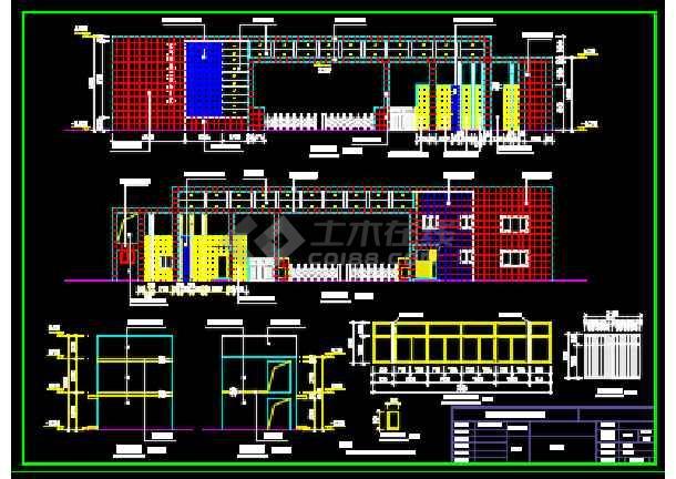 某地大门与门卫设计CAD施工图纸-图2