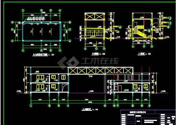 某地大门与门卫设计CAD施工图纸-图3