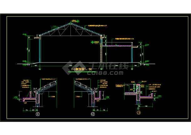 某市造纸厂cad施工设计建筑图纸-图1