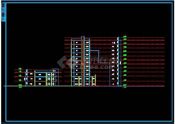 会所综合楼建筑设计施工CAD方案图-图1