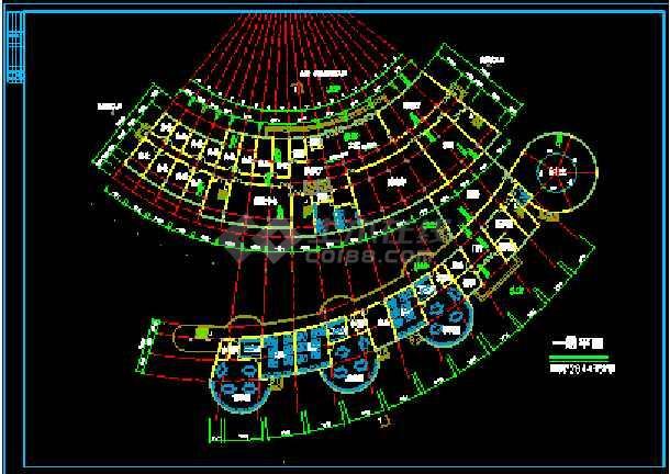 会所综合楼建筑设计施工CAD方案图-图2