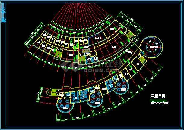 会所综合楼建筑设计施工CAD方案图-图3