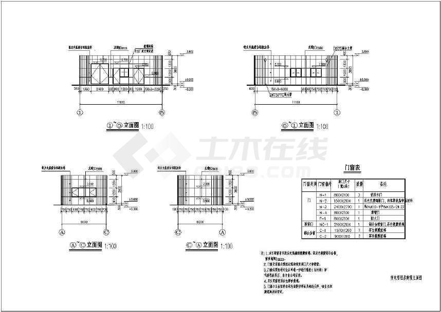 某地小型变电房管理房建筑结构水施工图-图1