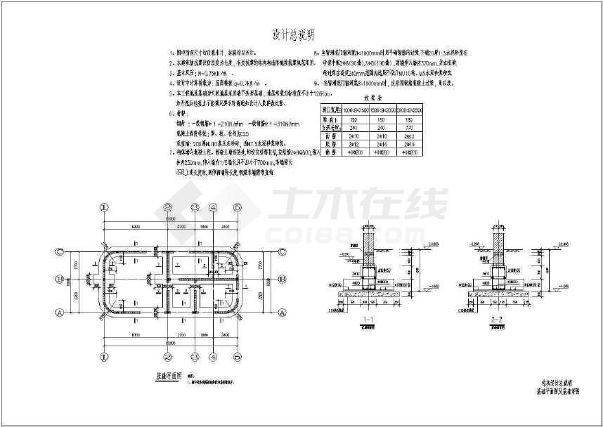 某地小型变电房管理房建筑结构水施工图-图3
