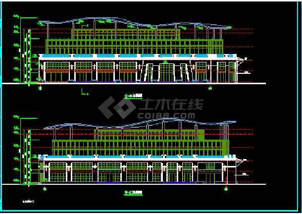 某市会所建筑CAD设计施工平面图纸-图1