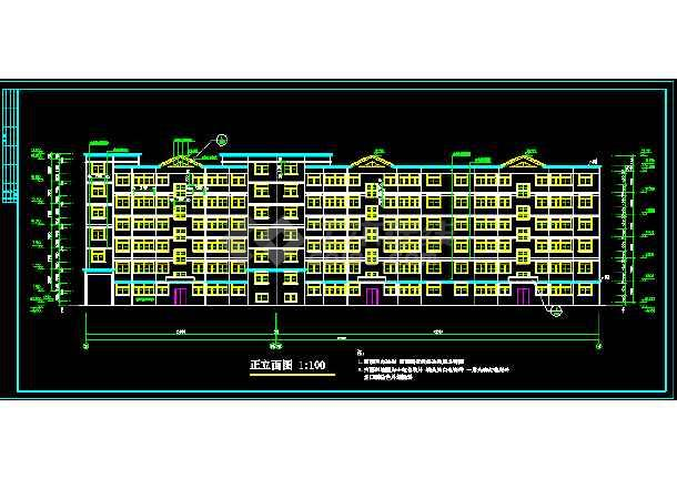多层住宅建筑施工全套设计CAD图纸-图1