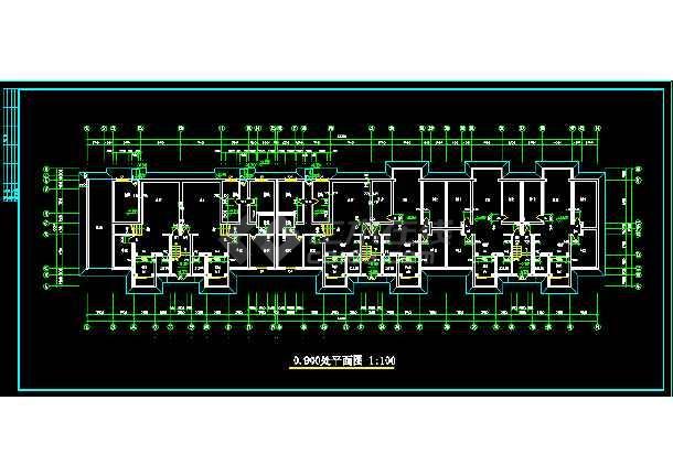 多层住宅建筑施工全套设计CAD图纸-图2