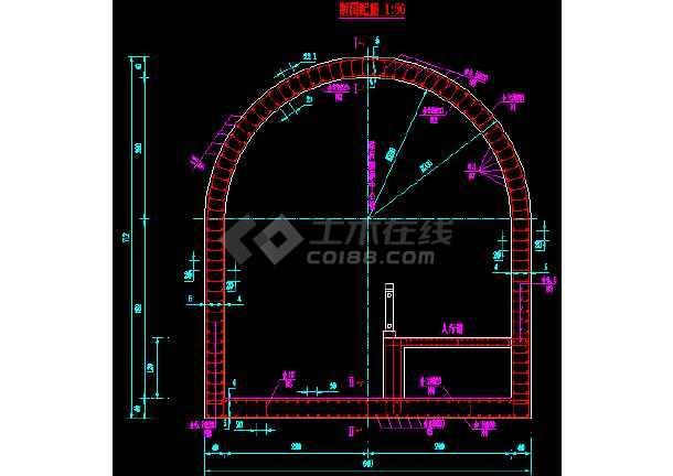 某公路过水隧道设计全套cad施工图纸-图1