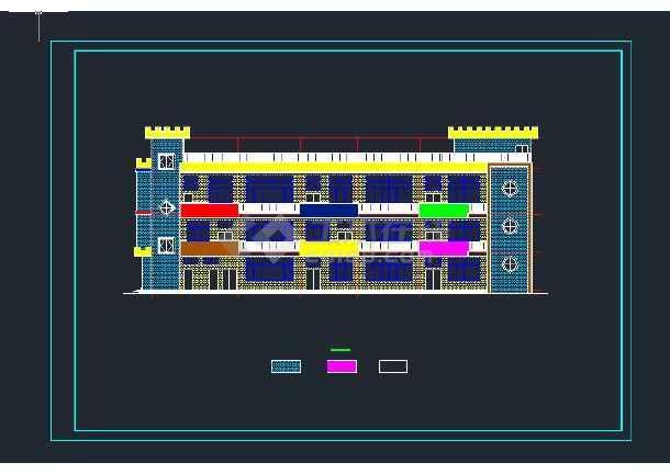 某农村自建幼儿园建筑施工图-图1