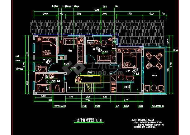 某市住宅楼全套装修CAD设计施工图-图2