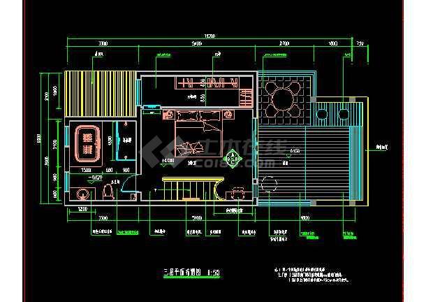 某市住宅楼全套装修CAD设计施工图-图3
