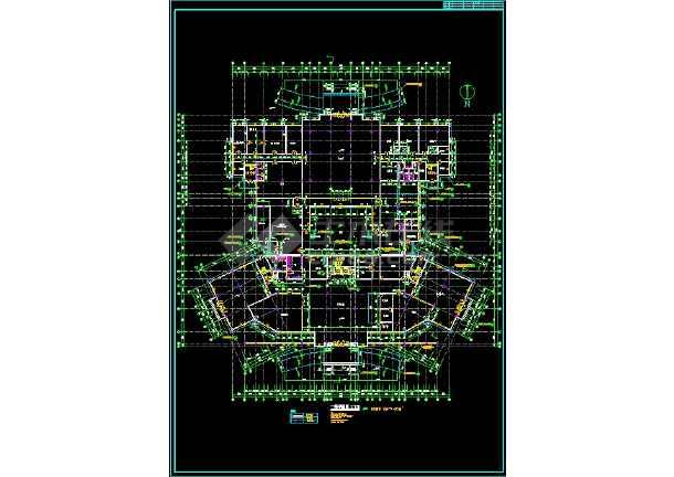 宾馆方案全套规划CAD设计详细图纸-图3