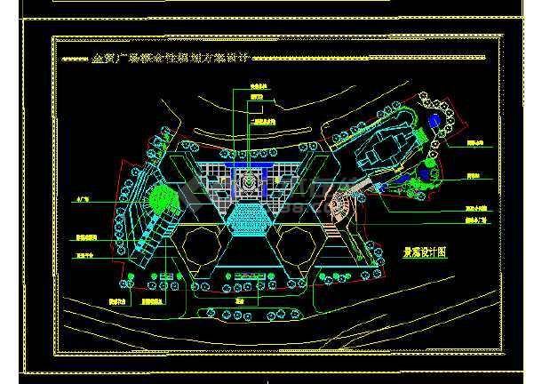 重庆金贸广场设计方案与施工全套CAD图纸-图1