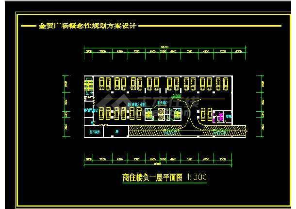 重庆金贸广场设计方案与施工全套CAD图纸-图3