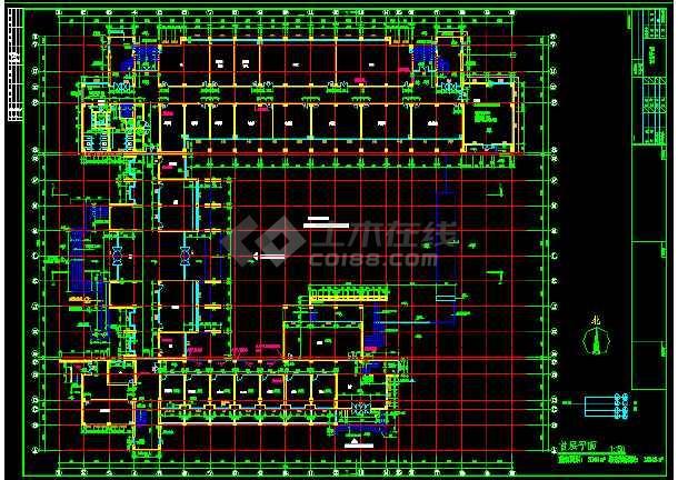 某大学教学楼平面建筑设计CAD施工图-图1