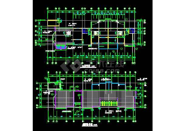 江苏某地多层住宅楼建筑CAD设计方案图-图3