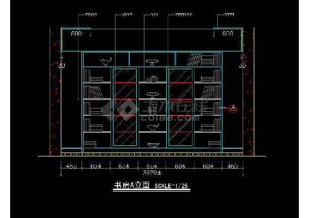 室内家装立面图块素材CAD总汇图-图1