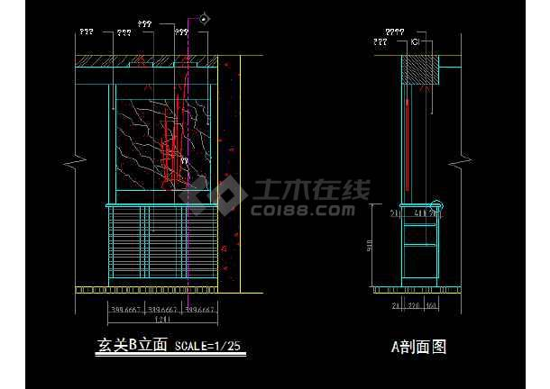 室内家装立面图块素材CAD总汇图-图2