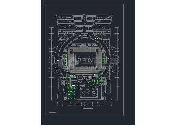 广东省内某体育馆暖通空调设计图-图2