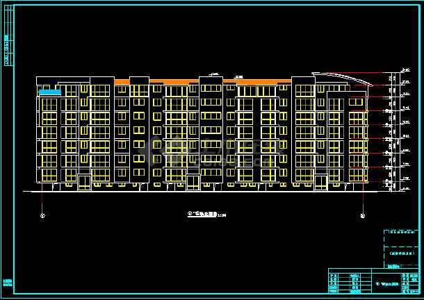 某多层住宅建筑设计CAD全套施工图-图1