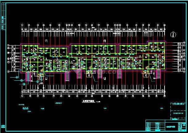 某多层住宅建筑设计CAD全套施工图-图2