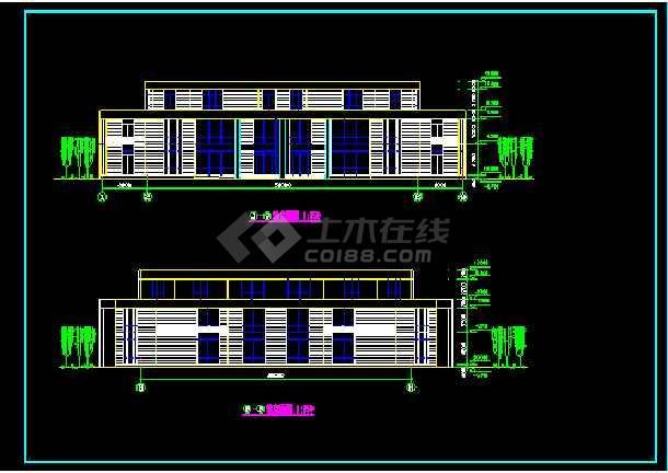 会所建筑施工设计CAD全套方案图纸-图1