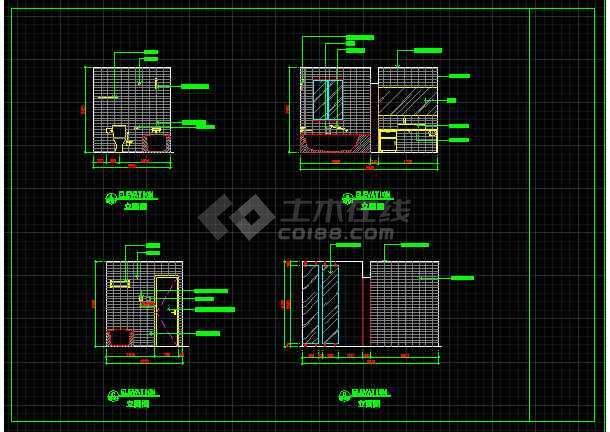 室内装修餐桌、办公桌素材CAD图库-图1