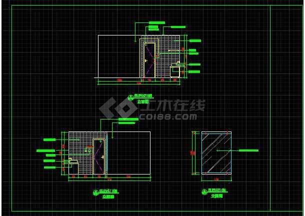 室内装修餐桌、办公桌素材CAD图库-图2