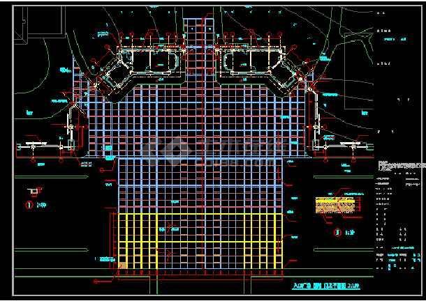 某综合楼建筑设计CAD入口大样图集-图1