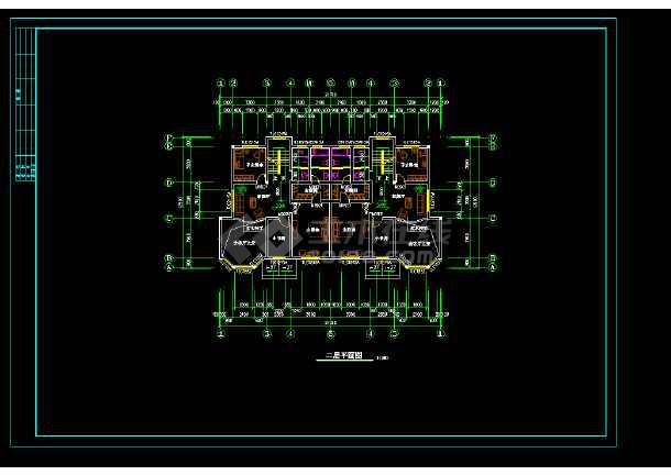 高层双拼别墅建筑设计cad施工方案-图1