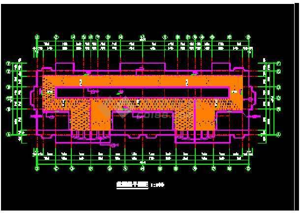 某市多层公寓建筑CAD施工设计平面图-图3