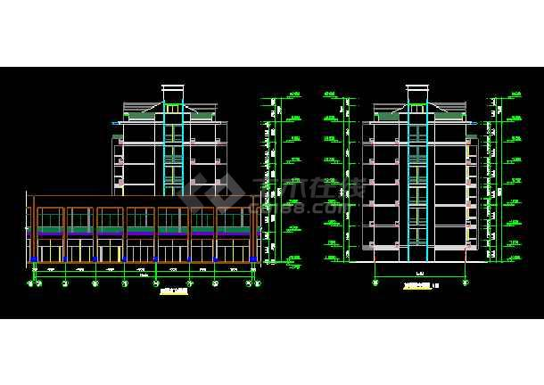 某多层底商住宅楼建筑设计CAD全套施工图-图2