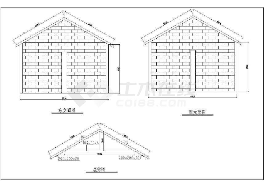 某地工业园建筑全套设计图(办公楼,配电房,别墅等)-图3