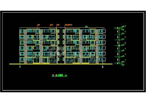 无锡某小区多层住宅建筑设计CAD方案图-图1