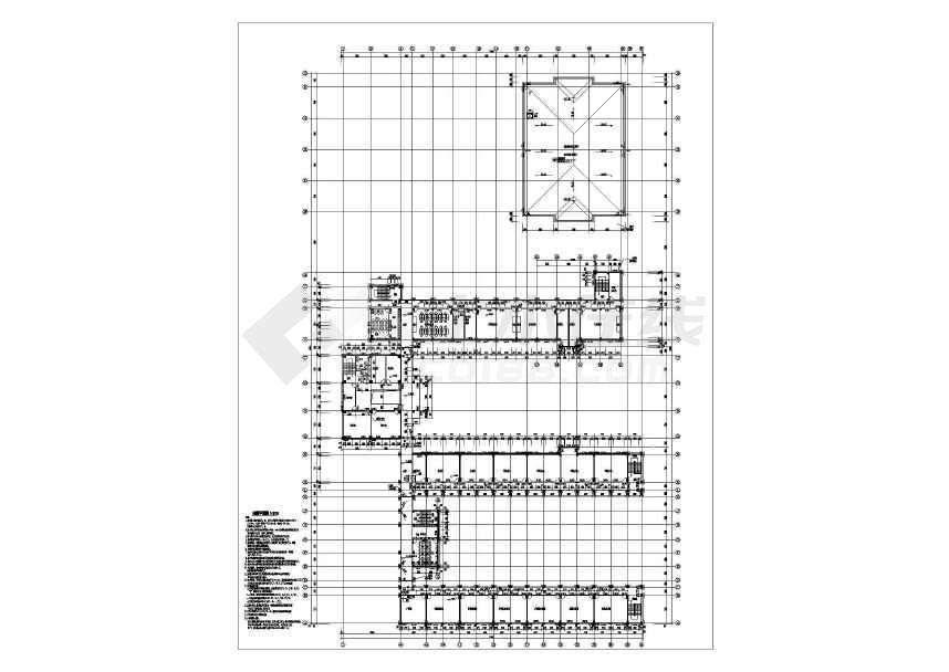 某地中心小学带地下室建筑结构施工图-图1
