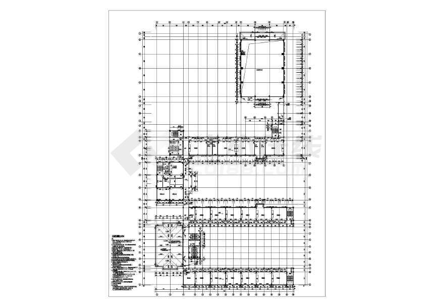 某地中心小学带地下室建筑结构施工图-图2