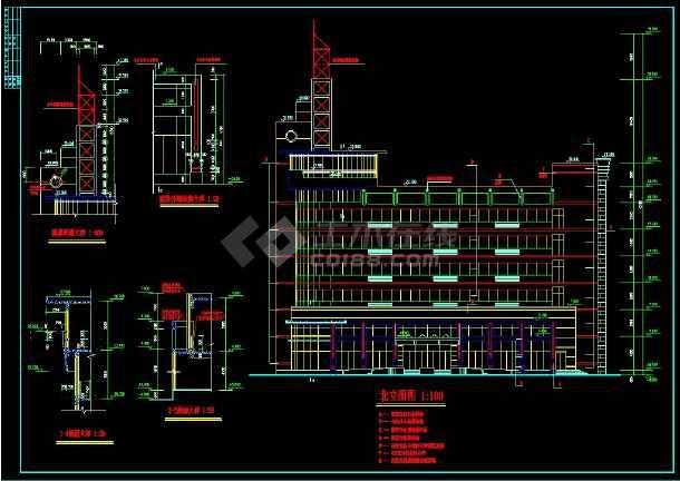 六层办公楼规划及CAD设计详细图纸-图1