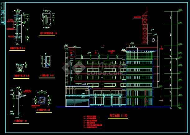 六层办公楼规划及CAD设计详细图纸-图2