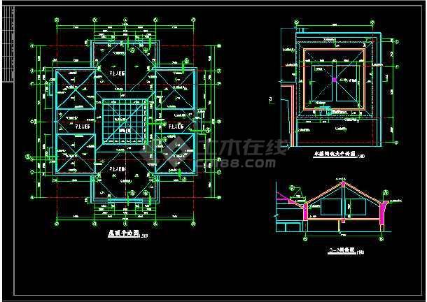 某小区会所建筑设计CAD全套施工图-图2