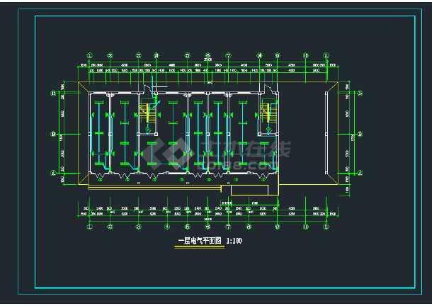 某六层框架结构住宅楼电气CAD全套施工图纸-图2