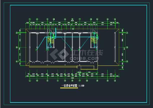 某六层框架结构住宅楼电气CAD全套施工图纸-图3