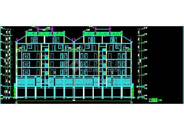 某6层砖混结构商住楼CAD建筑设计图纸-图2
