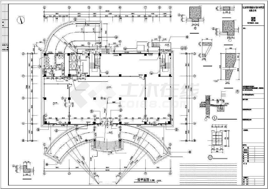 精彩实用的高层办公楼建筑施工图(标注详细)