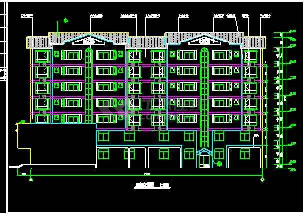 某7层商住楼CAD设计建筑施工图-图1