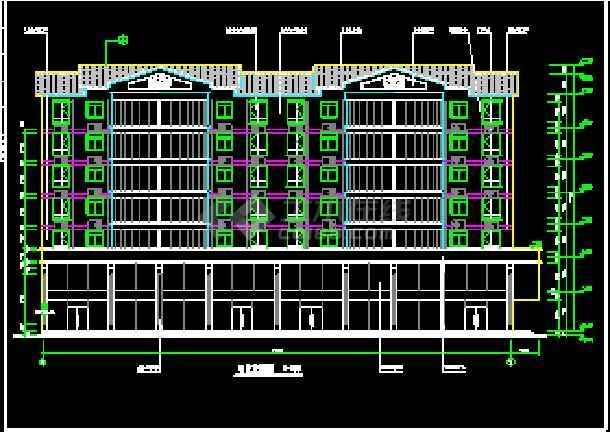 某7层商住楼CAD设计建筑施工图-图2