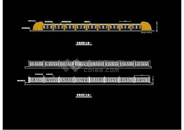 某市路桥石栏杆cad设计方案图集-图2