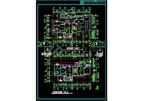 大川水岸住宅楼建筑施工设计CAD扩初图-图3
