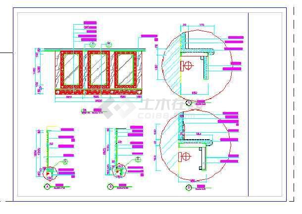 某宾馆三层更衣室建筑设计方案全套CAD图纸-图1