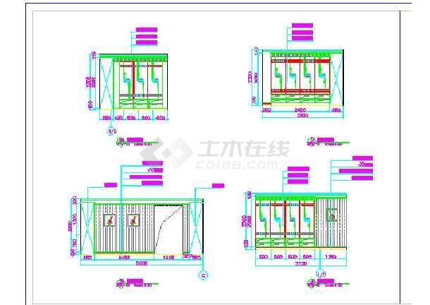 某宾馆三层更衣室建筑设计方案全套CAD图纸-图3